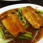 海南飯店:横浜中華街お得ランチFile.99/豚バラ煮込みと酢豚